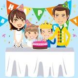 Família do feliz aniversario Foto de Stock
