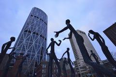 Família do homem a escultura Imagens de Stock