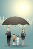 Família do negócio Ilustração Stock