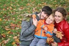 Família do outono Fotos de Stock
