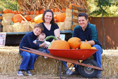 Família do outono Imagens de Stock
