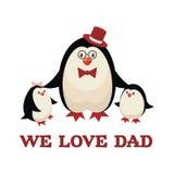 A família do pinguim Imagens de Stock