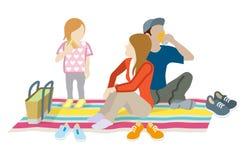 Família do piquenique ilustração do vetor