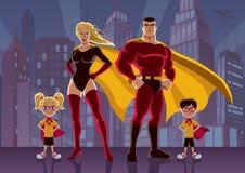 Família 2 do super-herói ilustração royalty free