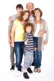 Família do Thumbs-up que levanta no estilo fotografia de stock