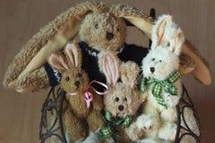 Família dos coelhinhos da Páscoa Imagem de Stock Royalty Free