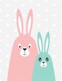 Família dos coelhos no estilo escandinavo Foto de Stock
