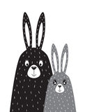 Família dos coelhos no estilo escandinavo Imagens de Stock Royalty Free