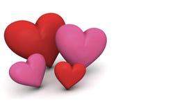 Família dos corações Imagem de Stock