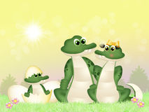 Família dos crocodilos ilustração stock