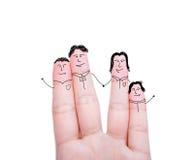 Família dos dedos Fotografia de Stock