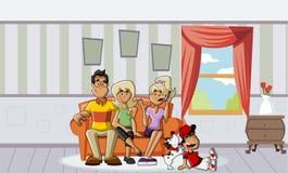 Família dos desenhos animados Fotografia de Stock