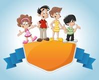 Família dos desenhos animados Imagem de Stock