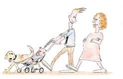 Família dos desenhos animados Fotos de Stock