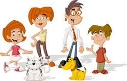 Família dos desenhos animados Fotografia de Stock Royalty Free