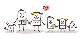Família dos desenhos animados Imagem de Stock Royalty Free