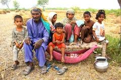 Família dos farmer's do boi Fotografia de Stock Royalty Free