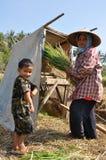 Família dos fazendeiros Fotos de Stock Royalty Free