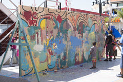 Família dos grafittis fotografia de stock royalty free