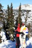 Família dos montanha-esquiadores. Fotos de Stock