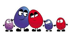 Família dos ovos Fotografia de Stock