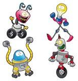 Família dos robôs ilustração royalty free