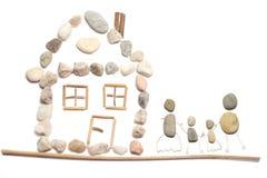 Família e casa Imagem de Stock