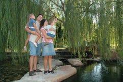 Família e natureza Foto de Stock Royalty Free