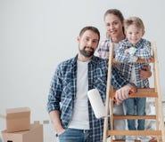 Família e renovação home imagens de stock