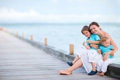 Família em férias Fotos de Stock Royalty Free