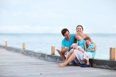 Família em férias Fotografia de Stock Royalty Free