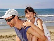 Família em férias imagem de stock