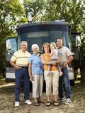Família em férias. imagens de stock royalty free