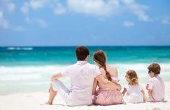 Família em férias do Cararibe Fotos de Stock Royalty Free