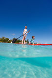 Família em férias tropicais Imagens de Stock