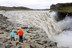 Família em Islândia foto de stock royalty free