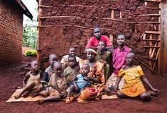 Família em Jinja Uganda fotos de stock royalty free