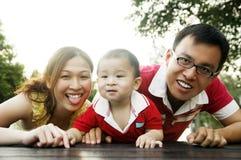 Família encantadora fotografia de stock royalty free