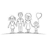 Família engraçada do vetor dos desenhos animados Imagem de Stock Royalty Free