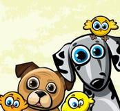 Família engraçada dos desenhos animados Foto de Stock