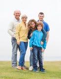 Família extensa feliz em férias Fotografia de Stock