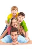 Família feliz foto de stock