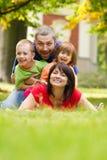 Família feliz Fotografia de Stock Royalty Free