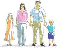 Família feliz #2 ilustração stock