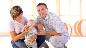 Família feliz fotografia de stock