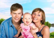 Família feliz. Imagens de Stock