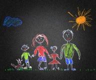 Família feliz ilustração royalty free