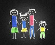 Família feliz ilustração stock