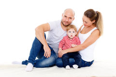Família feliz com bebê Imagem de Stock Royalty Free