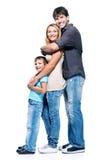 Família feliz com criança imagens de stock